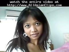 Cute thai babe fucks in all holes asian cumshots asian