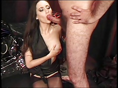 Lactating milf gets fucked