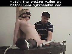 Tied and vibed 2 bdsm bondage slave femdom domination