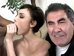 Skinny brunette and BBC hubby cry
