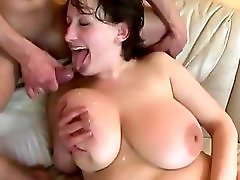Busty mature and younger lover
