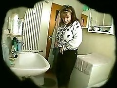 Hidden Cam BBW Shaving and Getting Off in Bathroom