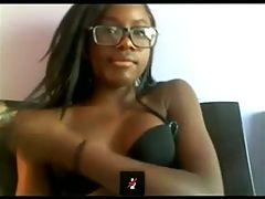 Perfect 18Yo Ebony Teen Fingering & Fucking Her Soaked Pussy