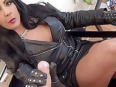 Leather Handjob