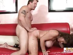 Busty and slutty mature blowjob titfuck and facial