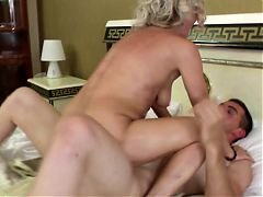 Lovely old mother suck and fuck her young lover