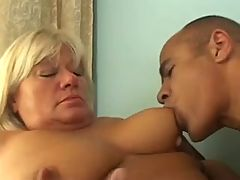 Blonde BBW with hairy pussy
