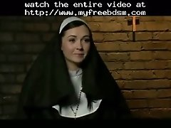 Nun gets rough bdsm assfuck from 2 priests bdsm bondage
