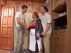 Granny and two young men 4