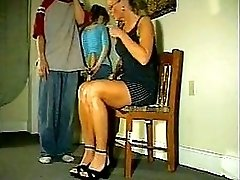 Mouthy momsknee spanking