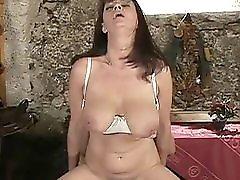 Saggy boobs Cute mature squirt