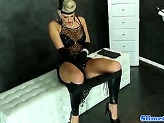 Femdom gloryhole fun with blondes and strapon
