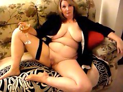 Sexy Wife spreads her legs wide on the couch