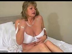 OldNanny sexy mature and her daughter is playing with toy