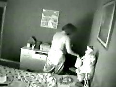 Hidden cam catches masturbation of my mom on bed