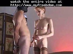 Slap my cock bdsm bondage slave femdom domination