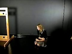 Blond slave in bondage 1