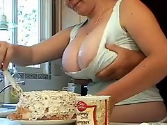 Mom gropped in kitchen