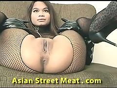 Thai Slapper On The Sofa