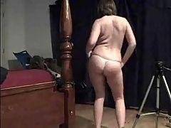 Amateur Brunette Strips And Sucks