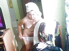 Hidden cam milf naked after shower lot of stills