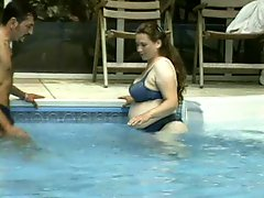 Pregnant mature BBW gets fucked outside