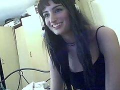 Amateur big tits busty girl masturbates on webcam