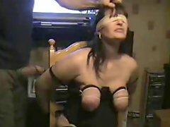 My slut bitch punished Whipping tits