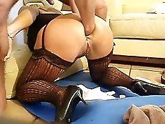 Painful anal fist & fruit M90