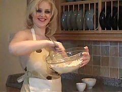 Busty Babe In Kitchen