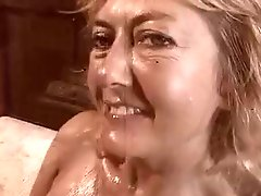 Big Tittied Blonde MILF Rheina Shine Masturbates and Fucks
