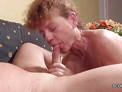 German 47yr old Skinny MILF Seduce to Fuck by Stranger
