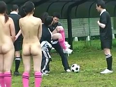 After a naked soccer game a blowjob is the best