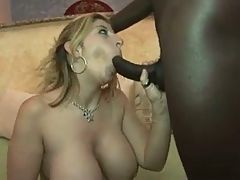 Busty Hot Blonde loves Interracial 5