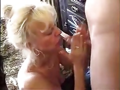 Amateur mature blonde with young stud