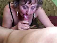 Sexy granny suck and fuck young boy