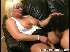 Great big boobed blonde milf slut takes cock deep in he