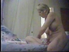 My mummy usually masturbate in the morning time