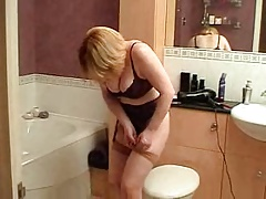 Naughty milf next door dresses poses and plays