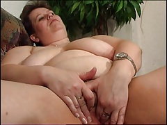 Mature BBW Polly alone