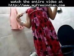 Desi showing off in bathroom indian desi indian cumshot