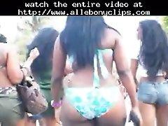 Bigass bikini black ebony cumshots ebony swallow interr