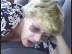 Old hag getting fucked in a car