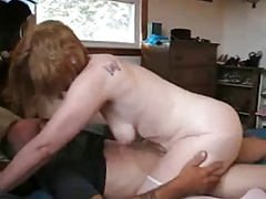 Mature woman fucks her husband's friend