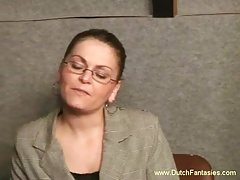 Ugly Dutch MILF With Glasses Hardcore