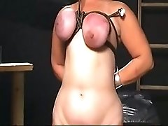 Her tits are punished