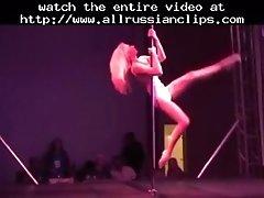 Pole danceing wow russian cumshots swallow