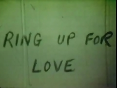 Vintage 70s US Ring up for love cc79
