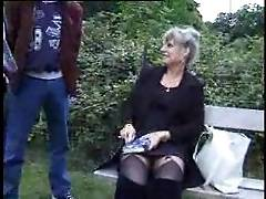 Crazy French Old Mature cheating for a gardenFuck F70