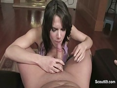 Mother helps Step son to cum after caught him masturbation